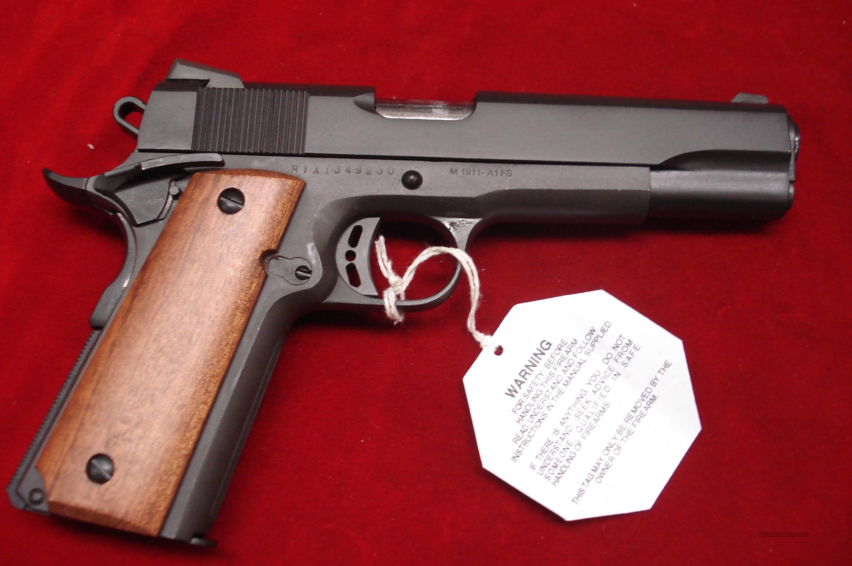 A1 Auto Sales >> ROCK ISLAND ARMORY 9MM 1911-A1 FS TACTICAL NEW for sale