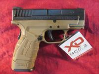 "SPRINGFIELD XD MOD 2 FLAT DARK EARTH 3"" 9MM NEW (XDG9801FDEHC)  {{ FACTORY MAIL IN REBATE OFFER }}"