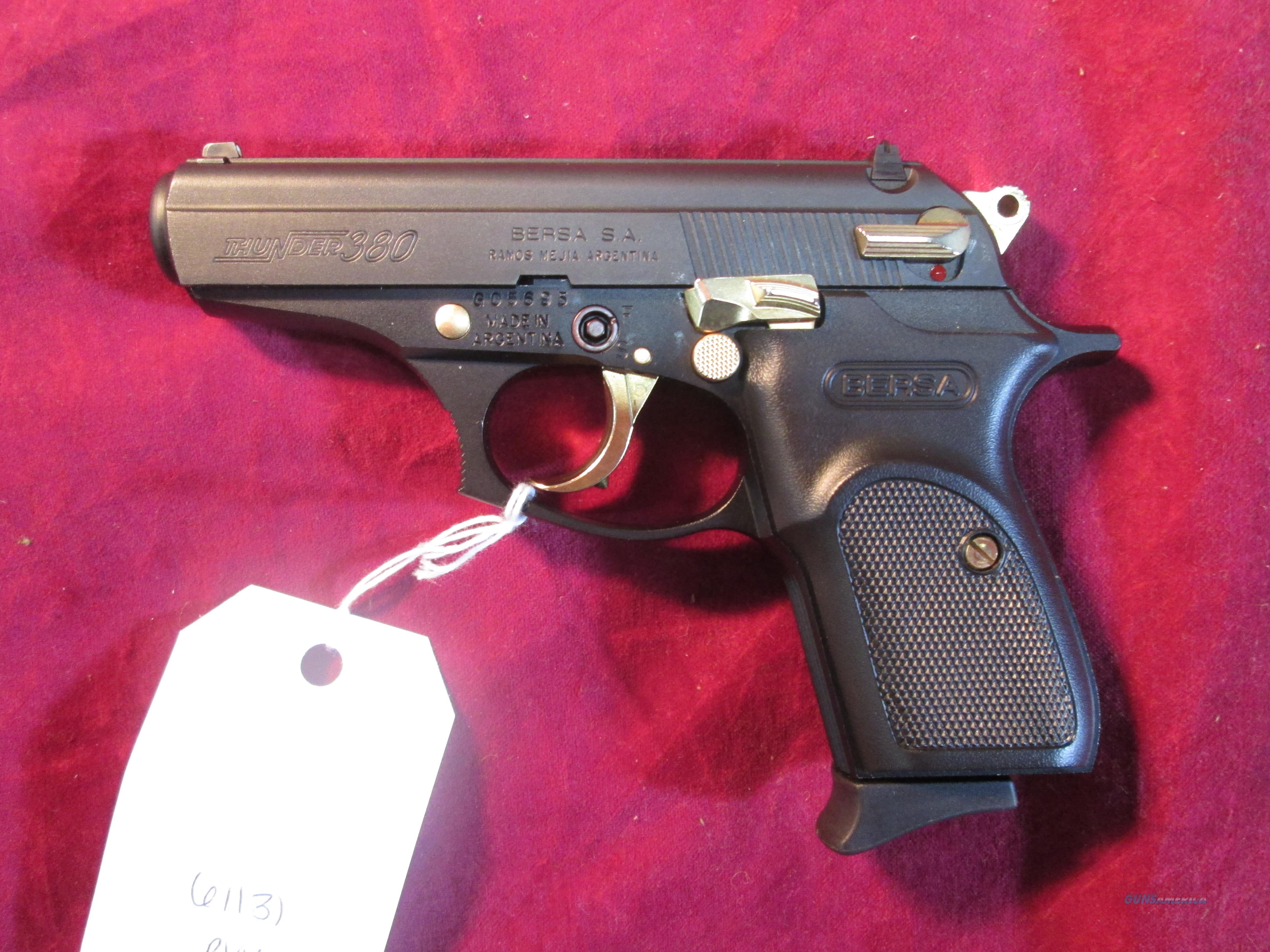Bersa 380 Thunder W Gold Accents Used For Sale