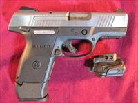 RUGER SR 40 COMPACT STAINLESS WITH CRIMSON TRACE LIGHT USED