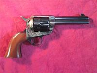 "CIMARRON FRONTIER PRE WAR SINGLE ACTION ARMY REPLICA 357MAG CASE COLOR 4.75"" NEW (PP400)"