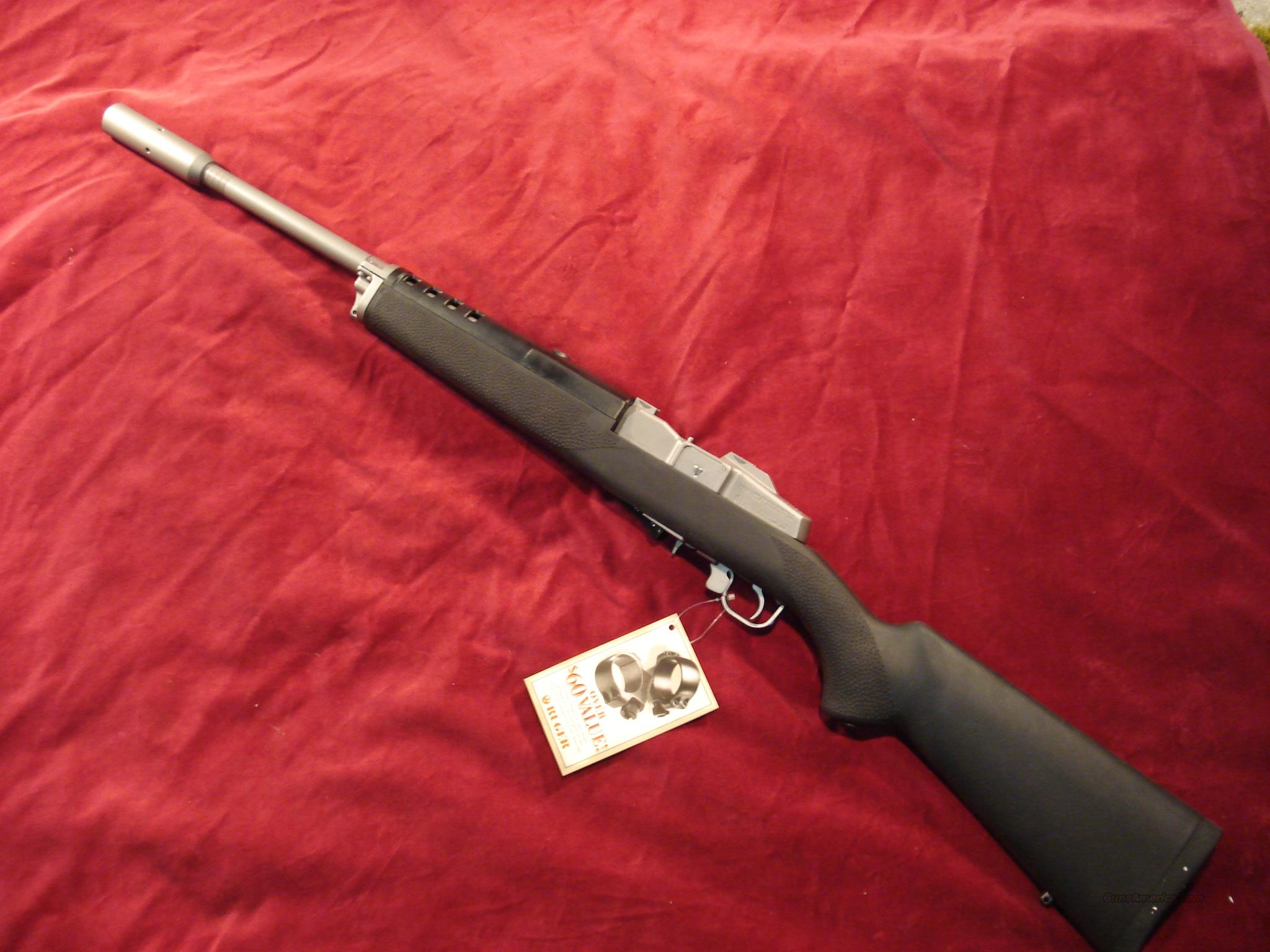 RUGER MINI 14 TARGET RIFLE W/HOGUE STOCK NEW (KM-14/5TH)