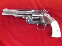 UBERTI SCHOFIELD 2 MODEL 0858 SATIN NICKEL FINISH 38SPL USED