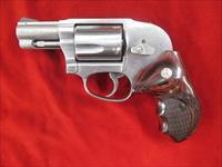 SMITH AND WESSON MODEL 649 STAINLESS .357 MAG W/ SHROUDED HAMMER AND WOOD GRIPS NEW (163210)