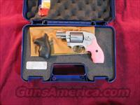 SMITH AND WESSON 638 AIRWEIGHT 38 SPL STAINLESS, PINK AND BLACK GRIPS NEW