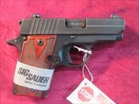 SIG P238 380CAL. NIGHT SIGHTS AND ROSEWOOD GRIPS NEW  (238-380-RG)