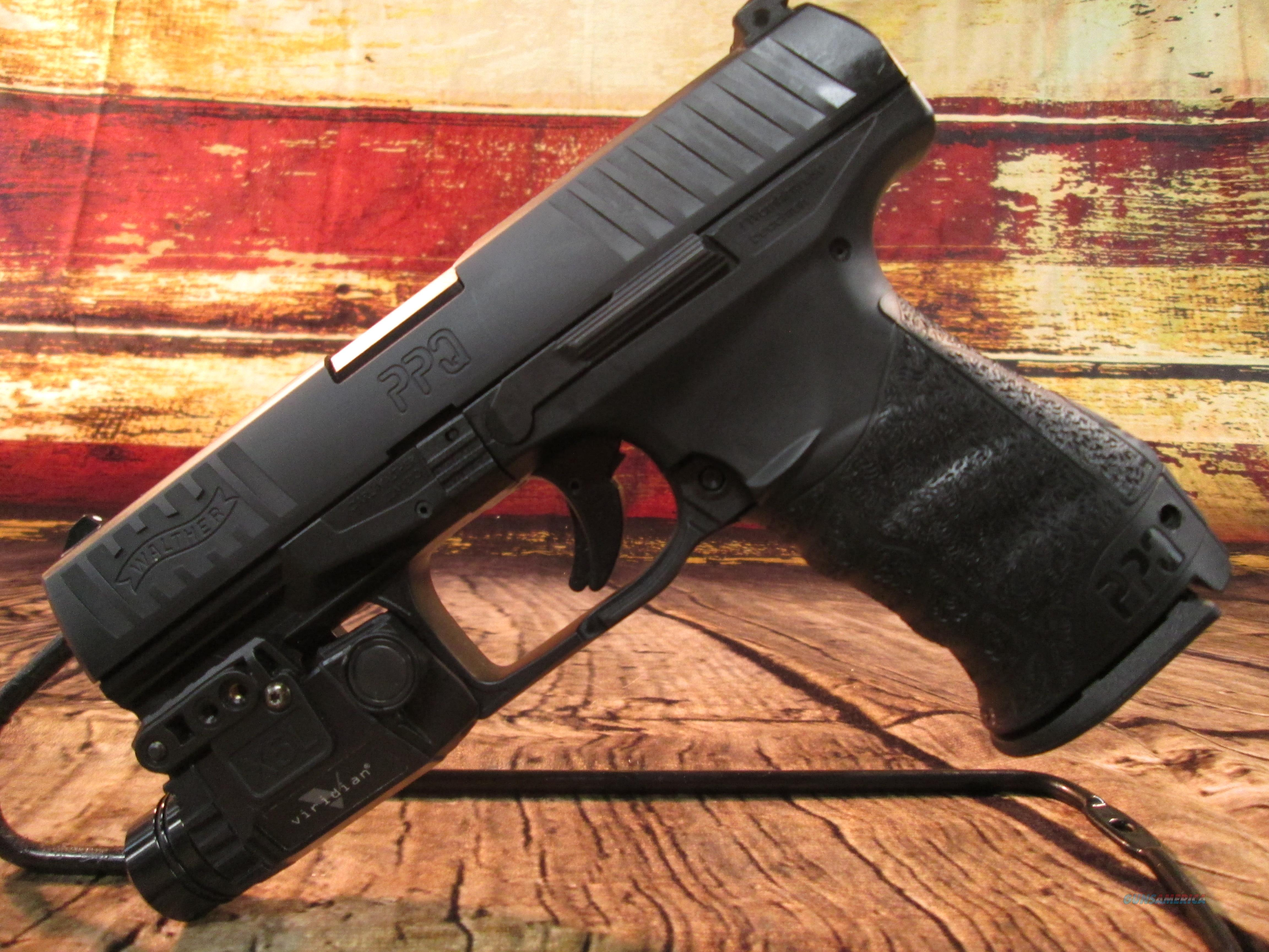 WALTHER PPQ WITH VIRIDIAN LASER/LIGHT & HOLSTER USED (62657)