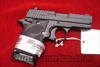 SIG SAUER 938 9MM WITH BLACK RUBBER GRIPS AND NIGHT SIGHTS NEW (938M-9-BRG-AMBI)