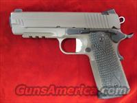 SIG SAUER 1911 CARRY SCORPION FLAT DARK EARTH WITH TAC RAIL AND NIGHT SIGHTS USED