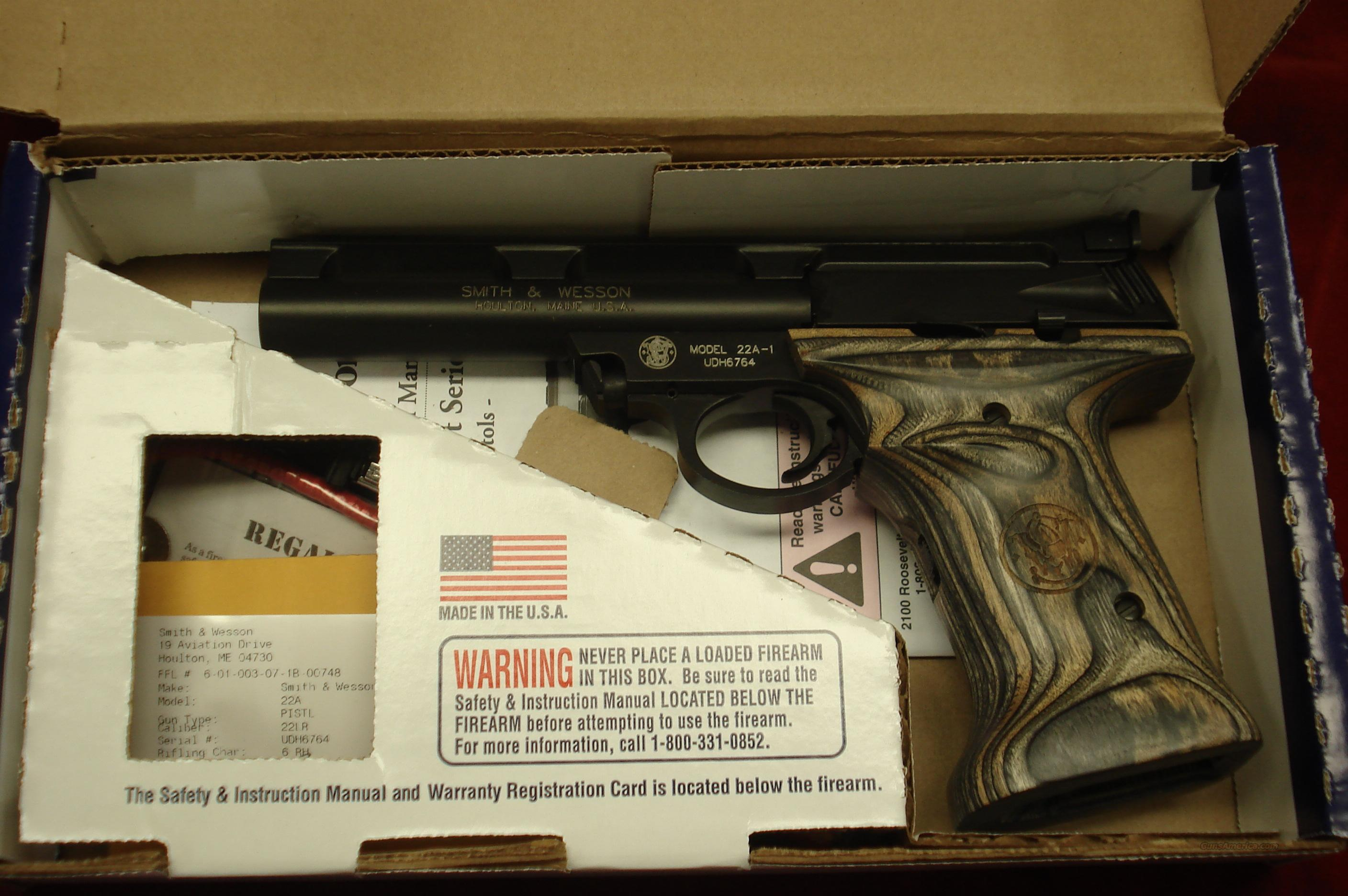 smith and wesson 22a 22lr 5 5 bull barrel ne for sale rh gunsamerica com Smith and Wesson 22A Grips Smith and Wesson 22A Magazine