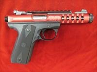 RUGER 22/45 LITE RED ANODIZED W/ THREADED BARREL NEW  (03910)
