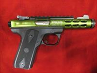 RUGER 22/45 LITE GREEN ANODIZED W/ THREADED BARREL NEW  (03912)