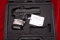 SIG SAUER 938 9MM WITH BLACK RUBBER GRIPS AND NIGHT SIGHTS NEW