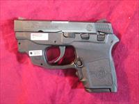 SMITH AND WESSON BODYGUARD W/ PRESSURE CRIMSON TRACE LASER AND SAFETY 380CAL USED