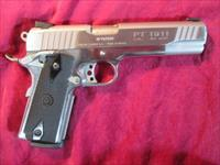 TAURUS HALF POLISHED STAINLESS 1911 45 ACP NEW (1-191109PSS)