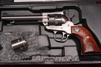 "RUGER SUPER SINGLE-SIX 5.5"" STAINLESS NEW (KNR-5)"