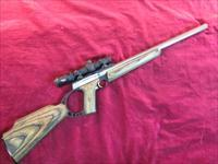 BROWNING BUCKMARK STAINLESS TARGET RIFLE 22LR W/ 4X BURRIS SCOPE USED