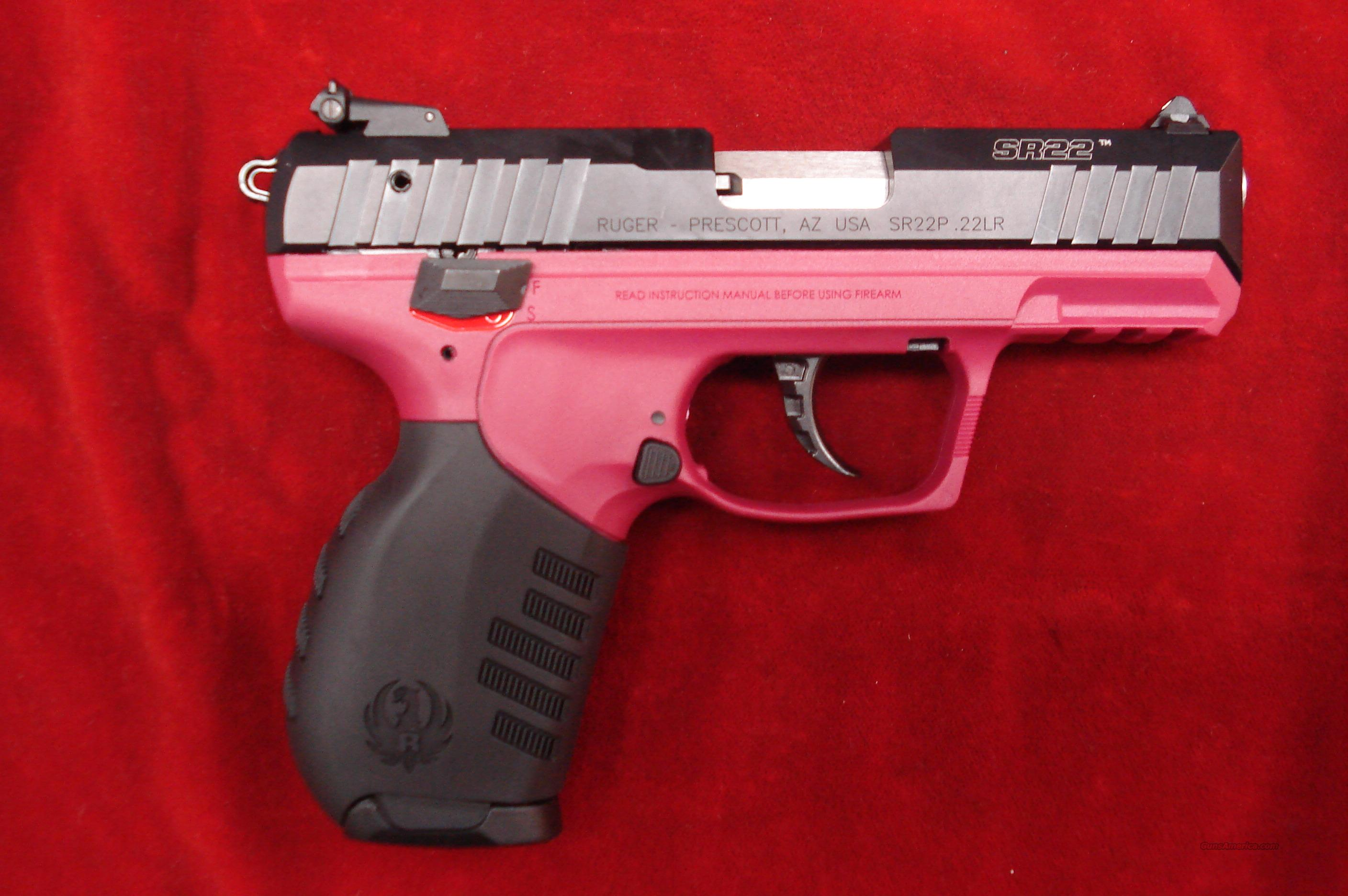 Ruger Sr22 22lr Cal Raspberry Color Frame New For Sale