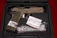 SIG SAUER 1911 CARRY SCORPION FLAT DARK EARTH WITH TAC RAIL AND NIGHT SIGHTS NEW