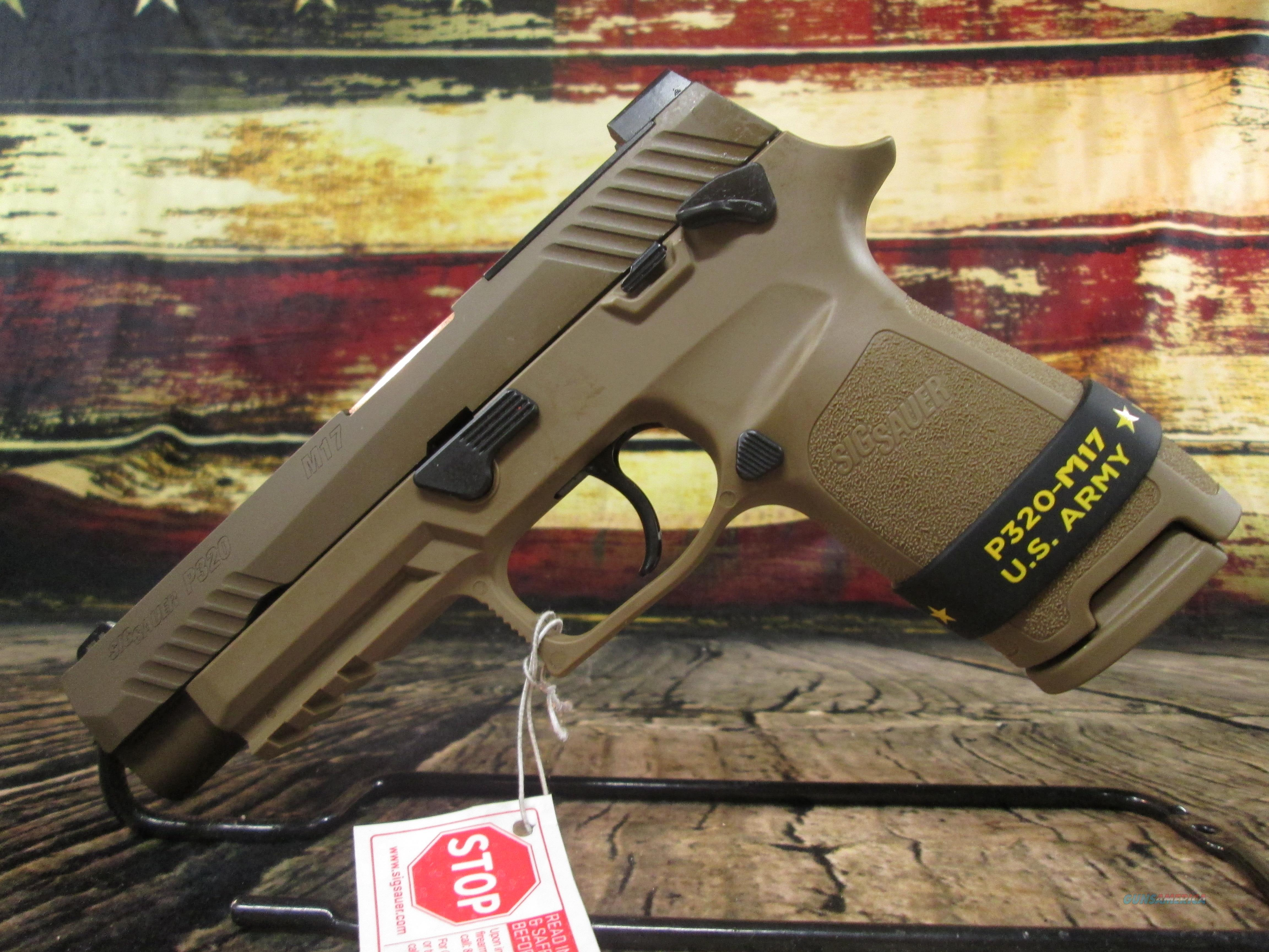 Sig Sauer P320 M17 Coyote 9mm Manual Safety New (320F9M17MS)