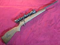 "SAVAGE 93R17 BOLT ACTION 17HMR HEAVY BARREL W/ SCOPE ""WHITETAILS UNLIMITED"" UNFIRED USED"
