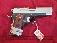 "SIG SAUER 1911 C3 COMPACT TWO TONE 4.25"" BARREL ROSEWOOD GRIPS NEW"