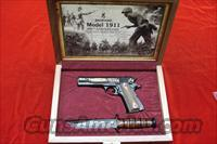 BROWNING 1911-22 CASED COMMEMORATIVE WITH KA-BAR AND DISPLAY CASE NEW