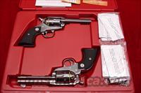 RUGER SASS VAQUERO MATCHED SET POLISHED STAINLESS 357CAL. NEW (05133)