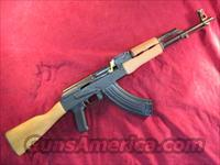 CENTURY INT'L ROMANIAN AK 47 SLANT BREAK AND FULL WOOD STOCK 7.62X39 CAL. NEW