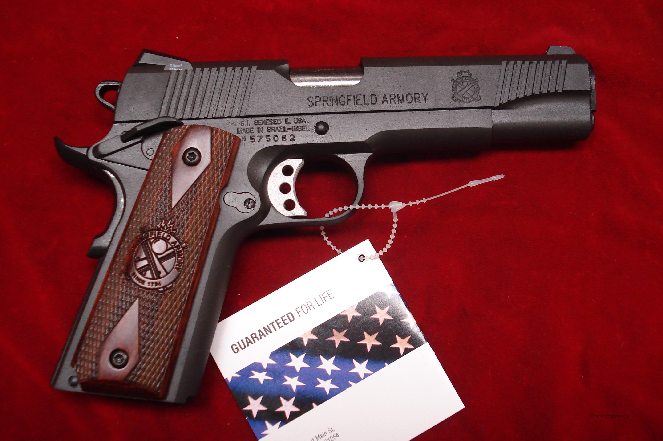 SPRINGFIELD ARMORY PARKERIZED 1911 A1 LOADED NIGHT SIGHTS (PX9109LP) NEW