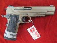 SIG SAUER 1911 EMPEROR SCORPION 45ACP, CUSTOM FLAT DARK EARTH WITH NIGHT SIGHTS AND TAC RAIL NEW