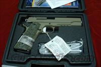 SIG SAUER 1911 SCORPION FLAT DARK EARTH WITH TAC RAIL AND NIGHT SIGHTS NEW