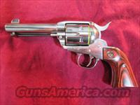 "RUGER POLISHED STAINLESS VAQUERO 45 COLT 4 5/8"" NEW (KNV-44)"