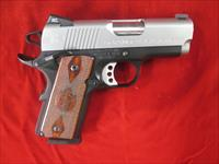 "SPRINGFIELD ARMORY EMP 40 CAL 3"" W/ CHECKERED WOOD GRIPS AND 4 MAGS USED"