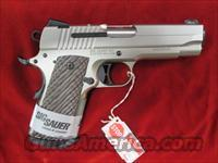 "SIG SAUER 1911 COMPACT NICKEL 4.2"" NEW"