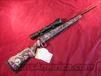 "SAVAGE AXIS XPII YOUTH MUDDY GIRL 243 WIN CAL, 20"" BARREL AND ACCUTRIGGER W/3X9 SCOPE NEW"