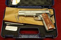 "SMITH AND WESSON SW1911TA ""E"" SERIES STAINLESS WITH TAC. RAIL AND NIGHT SIGHTS NEW"
