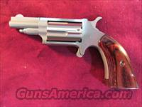 NORTH AMERICAN ARMS STAINLESS DERRINGER W/ ROSEWOOD BOOT GRIP NEW