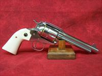"Ruger Model KNVRB-455 New Vaquero Bisley .45 Colt 5.5"" Barrel High Gloss Stainless Steel Finish (05129)"