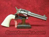 "Uberti 1873 Cattleman Cody Nickel 4 3/4"" .45LC(356003)."