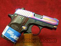 SIG SAUER P238 .380 ACP Rainbow Titanium with Rosewood Grips(238-380-RBT)