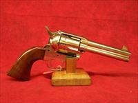 "Uberti 1873 Cattleman Polished Nickel NM .45 Colt  4 3/4"" (344101)"