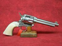 "Uberti 1873 Cattleman NM Engraved Stainless Steel, Pearl Style grip 5 1/2"" .45 Colt (356077)"