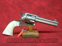 "Uberti 1873 Cattleman NM Engraved Stainless Steel, Pearl Style grip 4 3/4"" .45 Colt (356076)"