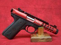 Ruger 22/45 Lite Rimfire .22 Long Rifle 4.4 Inch Threaded Barrel Red Anodized (03910)