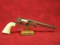 "Uberti 1851 Navy Oval TG .36 cal 7 1/2"" Nickel plated with Ivory style grips (340001)"