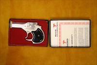 HIGH STANDARD - DERRINGER - 22 MAGNUM - CIRCA 1977 - NEVER FIRED WITH BOX - NICKEL FINISH