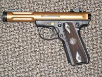 "RUGER 22/45 ""LITE"" .22 LR PSTOL THREADED IN ""BRONZE"" COLOR REDUCED"