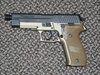 SIG SAUER P-226 FDE COMBAT 9 MM MODEL WITH THREE MAGS THREADED BARREL