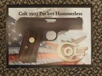 "COLT 1903 HAMMERLESS ""GENERAL OFFICER'S PISTOL - US PROPERTY"" .32 ACP"